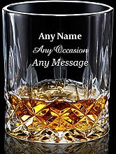 EDSG Personalised Engraved Whiskey Tumbler Glass