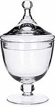 Edwanex Footed Glass Jar Cookie Sweet Storage