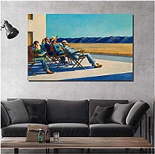 Edward Hopper People in The Sun Canvas Painting