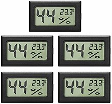 EEEKit 5-Pack LCD Digital Hygrometer Thermometer,