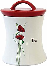 EEMKAY® New Red Poppy Sugar Tea & Coffee Jar
