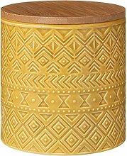 EEMKAY® New Tribal Ochre Stylish Storage Canister