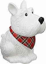 EEMKAY® New White Dog Cookie Biscuit Jar &