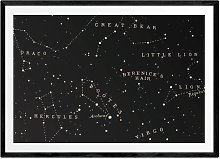 EEP Aster Constellation Black Framed Print - A1