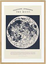 EEP Aster Telescopic Moon Unframed Print - A3