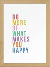 EEP Native State Makes You Happy Framed Print- A3
