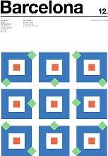 EEP Nick Barclay Barcelona Unframed Print  -