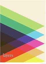 EEP Simon C Page Layers Unframed Print  - 60x80cm