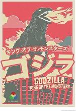 EEP The Designers Nursery Godzilla Unframed Print