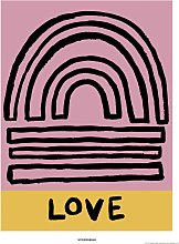 EEP Wonder And Rah Love Unframed Print  - 40x50cm