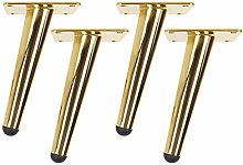 EEUK Legs for Furniture Set of 4 Gold, Round
