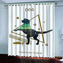 EEXDMX Abstract animal dog Blackout Curtains -