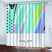 EEXDMX Abstract color art Blackout Curtains -