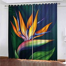 EEXDMX Abstract plant flowers Blackout Curtains -