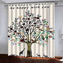 EEXDMX Abstract trees art Blackout Curtains -
