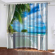 EEXDMX Balcony with sea view Blackout Curtains -