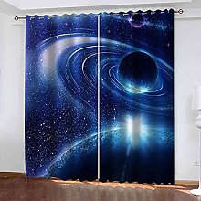 EEXDMX Blue space planet Blackout Curtains - Super