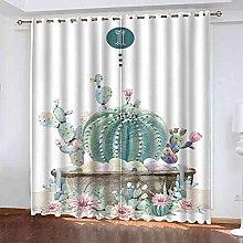 EEXDMX Cactus flower Blackout Curtains - Super