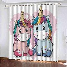 EEXDMX Cartoon animal horse Blackout Curtains -