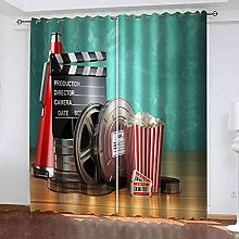 EEXDMX Cinema theme Blackout Curtains - Super Soft
