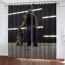 EEXDMX Creative street figures Blackout Curtains -