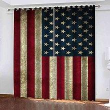 EEXDMX Flag print pattern Blackout Curtains -