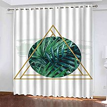 EEXDMX Green plant leaves Blackout Curtains -