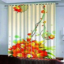 EEXDMX Orange plant flowers Blackout Curtains -