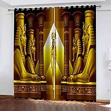 EEXDMX Queen of ancient egypt Blackout Curtains -