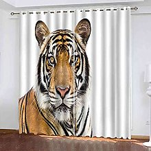 EEXDMX Simple animal tiger Blackout Curtains -