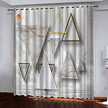 EEXDMX Triangle stone print Blackout Curtains -