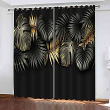 EEXDMX Tropical plant leaves Blackout Curtains -