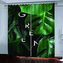 EEXDMX Tropical plant print Blackout Curtains -