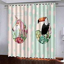 EEXDMX White horse Blackout Curtains - Super Soft