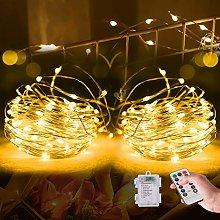 Efanty LED String Lights, 2 Pack 10M 100 LED Fairy