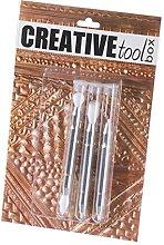 Efco Embossing Tool Plastic tip Set 3 Parts,