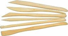 Efco Modelling Tool Set Wood 6 Parts 20 cm, Brown,
