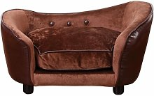Effie Luxury Dog Sofa in Coffee Archie & Oscar