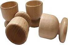 efo Wooden Egg Cups - Boiled Egg Holder - Easter