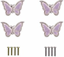 Eforlike Butterfly Cupboard Door Knobs Cabinet