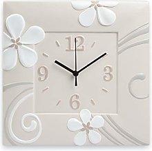 Egan Clock, Ceramic, Ivory, Small