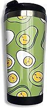 Egg and Avocado Coffee Travel Mug Cup Stainless