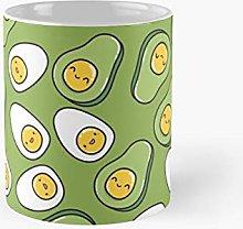 Egg and Avocado Seamless Classic Mug   Best Gift