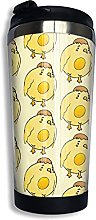 Egg Bird Coffee Travel Mug Cup Stainless Steel