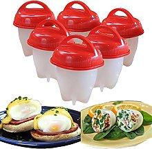 Egg Boiler, 6 Pcs Non Stick Silicone Egg Cooker