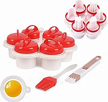 Egg Boiler Silicone 6 Pcs/Set, Boiled Egg Shaper,