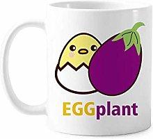 Egg Chicken Eggplant Similar Mug Pottery Ceramic