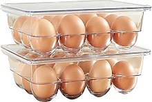 Egg Container Tray Holder, Egg Holder with Lid,