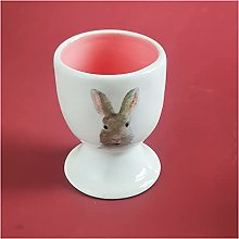 Egg Cup Ceramic Bunny Egg Cup, Egg Tray, Can be