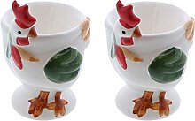 Egg Cup Cute Ceramic Soft Boiled Egg Holder - Set